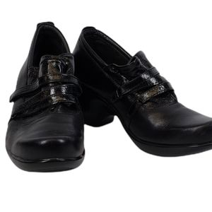 Naot Black Slip On Wedge Loafer Size 39EU